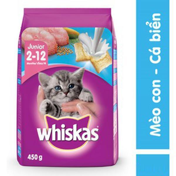 Whiskas vị cá biển - Thức ăn hạt dành cho mèo con