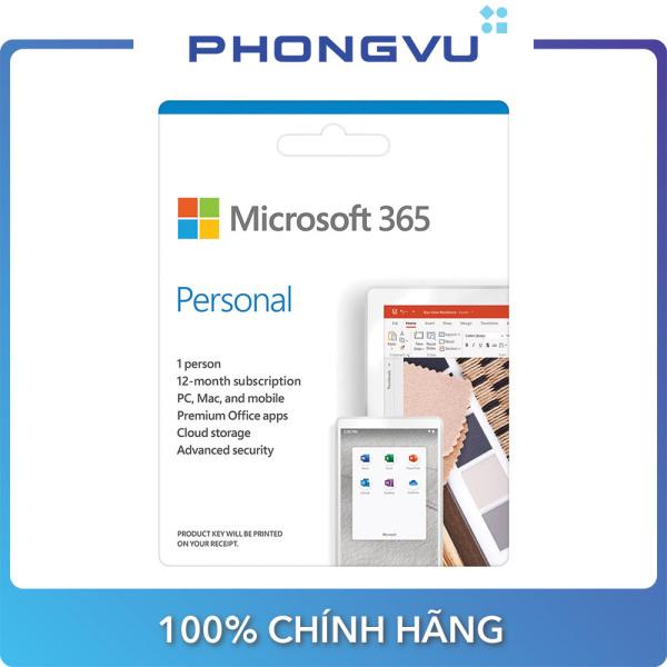 Bảng giá Phần mềm Microsoft 365 Personal English APAC EM Subscr 1YR Medialess P6 (QQ2-00983) Phong Vũ