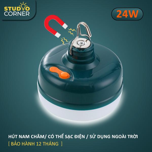 Bảng giá Bóng đèn LED sạc tích điện, đèn led sạc pin ánh sáng trắng, có đế hít nam châm, móc treo kèm theo, bóng đèn gia dụng ánh sáng trắng, chống thấm nước, công suất 18-24-36W HL145