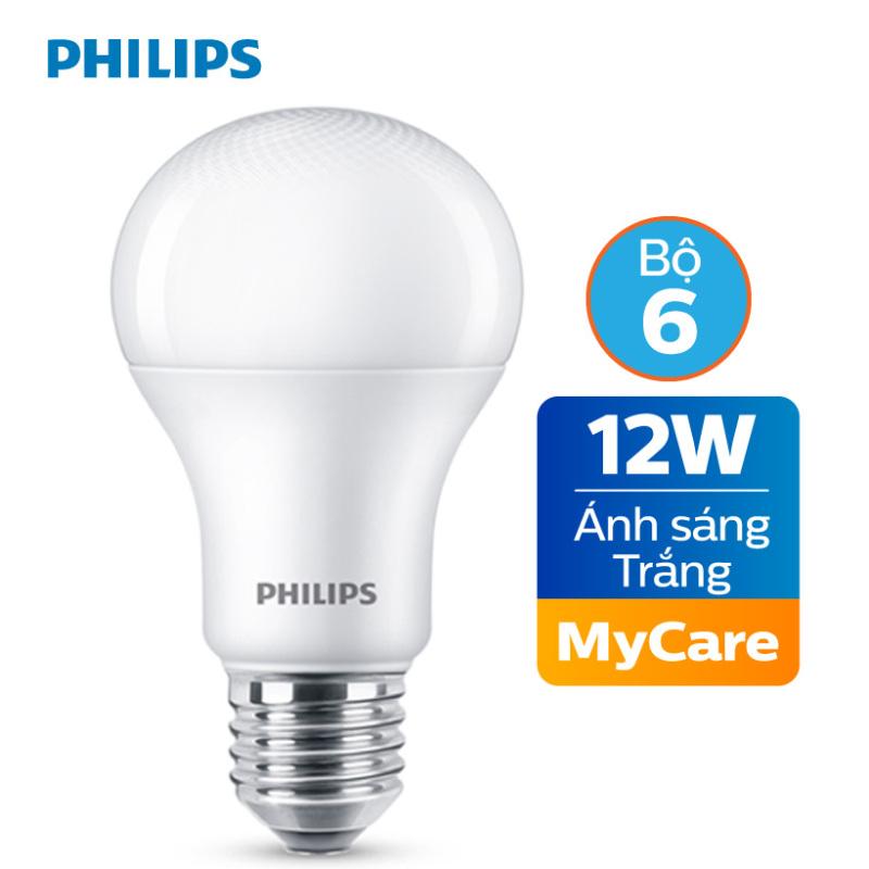 Bộ 6 Bóng đèn Philips LED MyCare 12W 6500K E27 A60 - Ánh sáng trắng