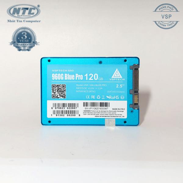Giá Ổ cứng SSD VSPTECH 960G Blue Pro dung lượng 120GB - tốc độ ghi 450MB/s đọc 520MB/s (Xanh)