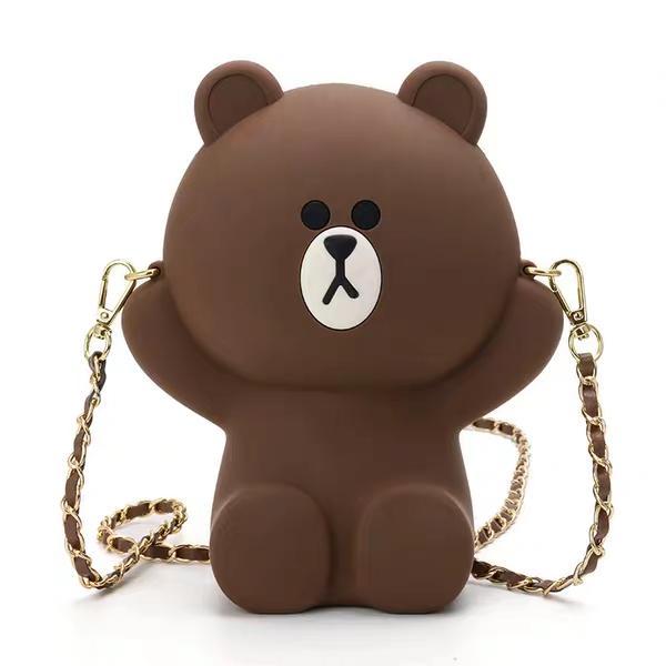 Túi đeo chéo silicon hình gấu