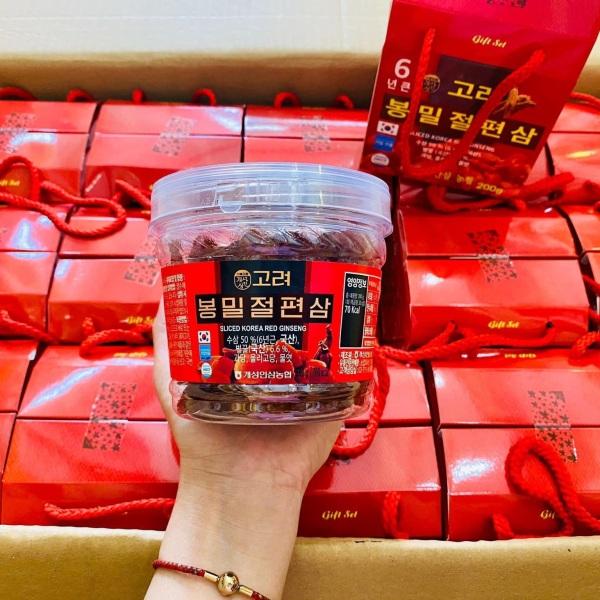 SG Hồng sâm lát Hàn Quốc 6 năm tẩm mật ong cao cấp