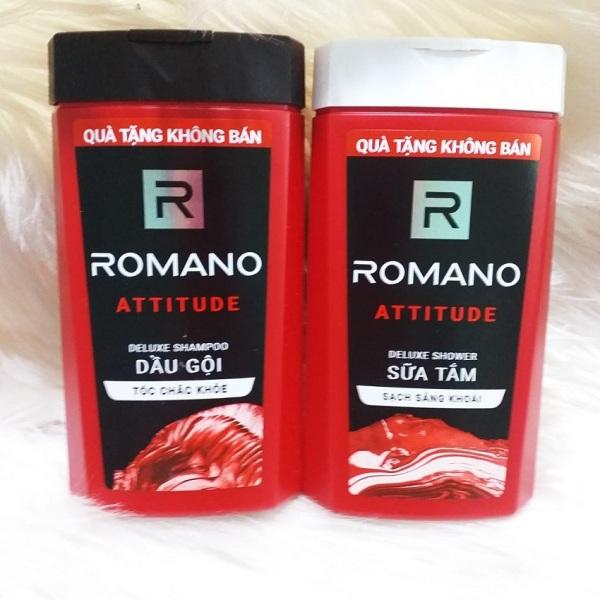 Sữa tắm/dầu gội Romano Attitude nồng ấm cá tính phiên bản Deluxe sạch sảng khoái 150g