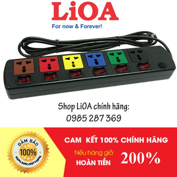 Bảng giá Ổ Cắm Điện LIOA, 6 Lỗ 6 Công Tắc, ~2000W, Dây Dài 3m, Mã:6DOF32N