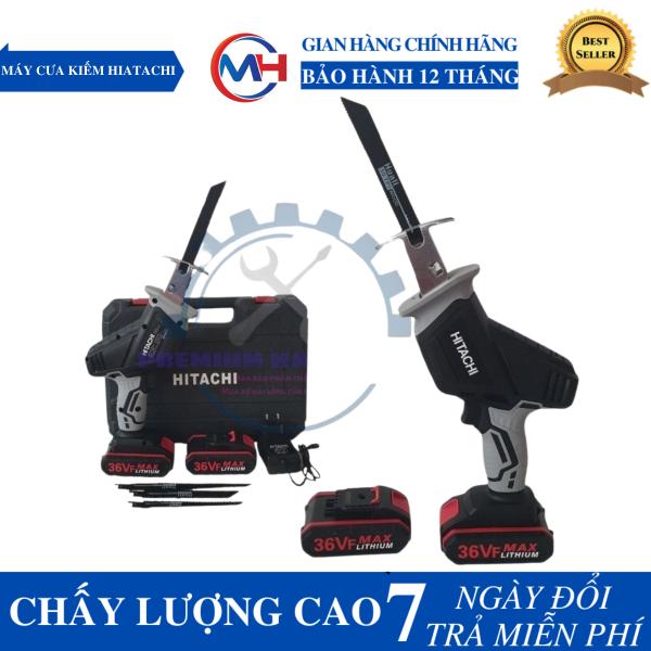 Máy cưa kiếm - Máy cưa đa năng chạy pin Hitachi 36V (2 pin 1 sạc) Tặng 4 lưỡi cưa cao cấp [Hàng Cao Cấp]
