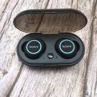 Tai Nghe Bluetooth 5.0 - Tai Nghe Không Dây Sony D76 - Cảm Biến Tự Động Kết Nối - Sony D76 True Wireless công nghệ bluetooth 5.0 kèm đốc sạc cảm biến tự động kết nối, tai nghe nhét tai phù hợp iphone, samsung và các loại đt khác... thumbnail