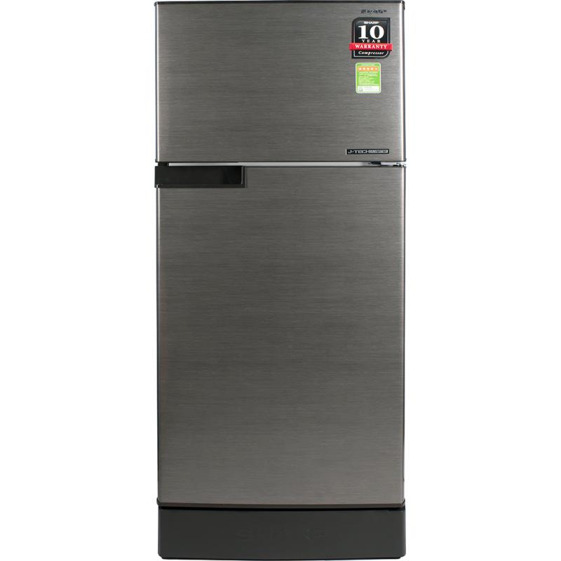 Tủ lạnh Sharp Inverter 165 lít SJ-X176E-DSS - Công nghệ J-Tech Inverter vận hành êm ái, tiết kiệm điện Bộ lọc Nano Ag+ khử mùi, diệt khuẩn vô cùng hiệu quả  Tích hợp tính năng làm đá nhanh gấp 2 lần tủ thông thường