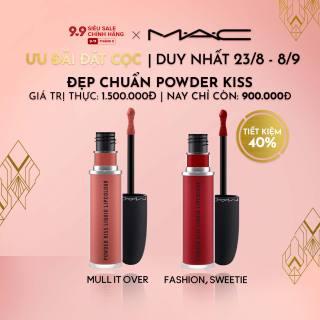 [ƯU ĐÃI ĐẶT TRƯỚC 23.8-8.9] MAC - Bộ 2 món Son môi MAC Powder Kiss Liquid Lipcolour - Moisture Matte Liquid Lipstick 5ml ( Giá thực 1,500,000vnd) thumbnail