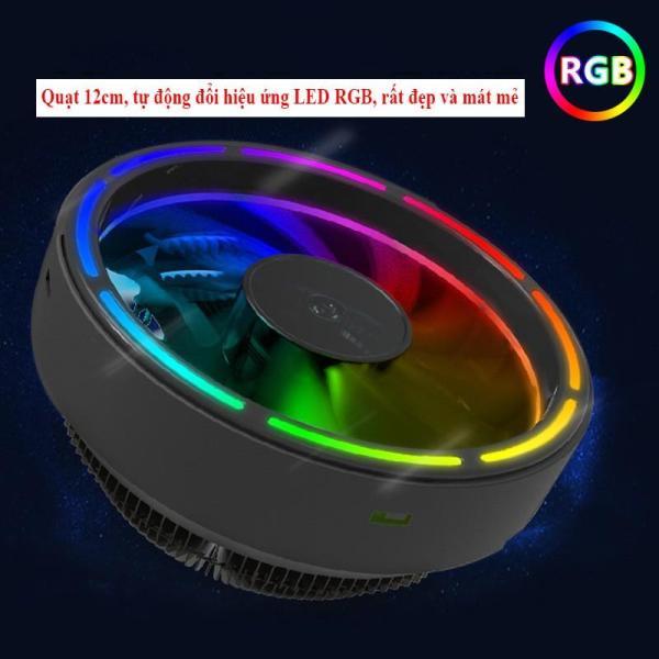 Fan Tản Nhiệt CPU Leto II Led RGB 16 Triệu Màu 366 Hiệu Ứng - Tự Động Đổi Màu Không Cần Hub