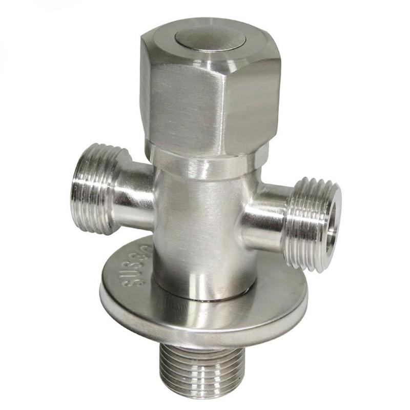 Bảng giá [HCM]Van chia giảm áp - khóa 2 đường nước Inox SUS 304