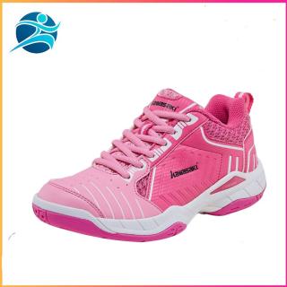 Giày cầu lông nữ Kawasaki K162 Pink thiết kế phom giày ôm chân, đế kếp, chống lật cổ chân, màu hồng cánh sen, full box, đủ size - giay bong chuyen nu - giày chơi cầu lông - giày nữ đẹp - Bsport thumbnail
