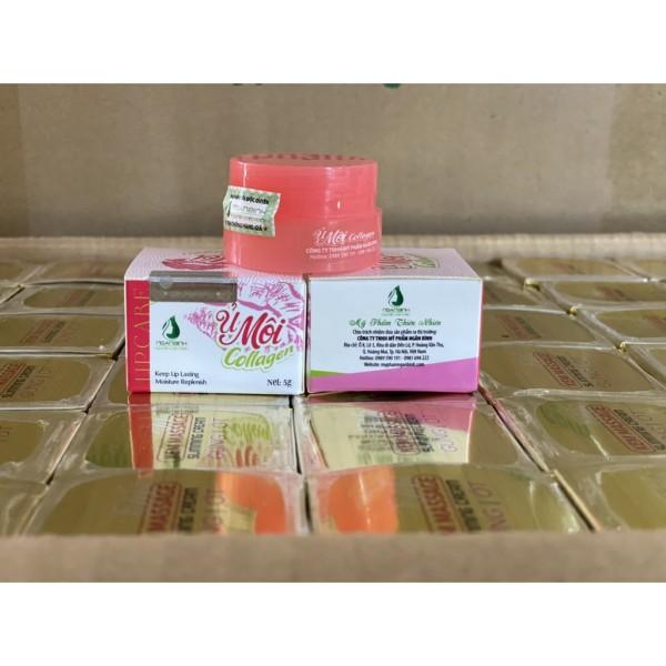 ủ dưỡng hồng môi,ủ môi collagen ngân bình cao cấp