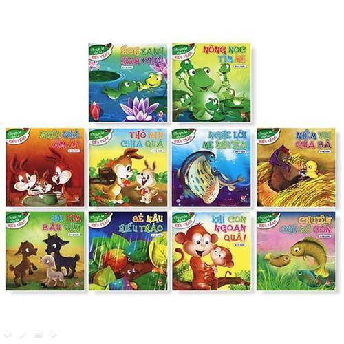 Mua Sách - Chuyện cho bé hiếu thảo (bộ 10 cuốn) - Tặng kèm 1 móc khóa 4Tech