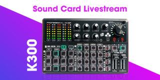 Soundcard K300 Soundcard chuyên thu âm, livestream, karaoke online Livestream được 3 điện thoại thumbnail