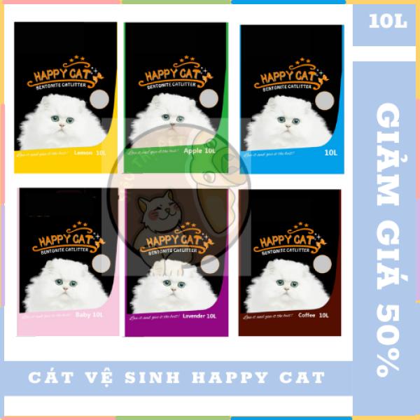 (SIÊU KHUYẾN MÃI) Cát vệ sinh cho mèo Happy Cat 10L CHÍNH HÃNG