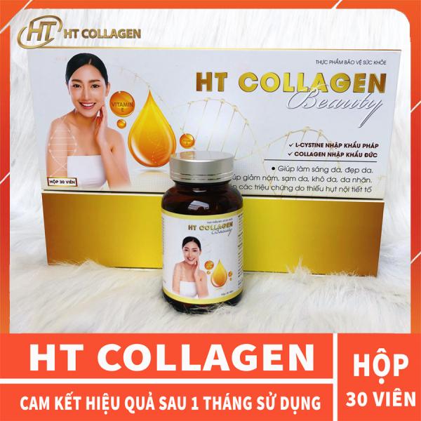 Collagen Đẹp Da, Bổ Sung Nội Tiết Tố Nữ HT COLLAGEN hộp 30 viên cam kết hiệu quả sau 1 tháng