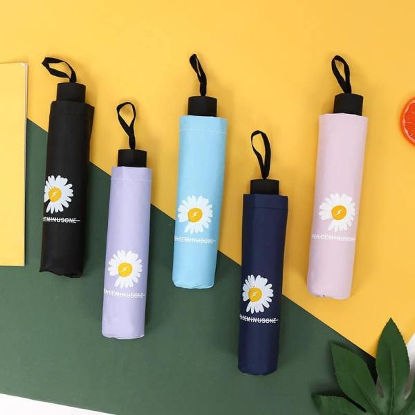 [Chống Tia UV] Ô Dù Hoa Cúc Đi Mưa Đi Nắng Gọn Nhẹ hàn quốc - Dù Hàn Quốc Gấp Gọn - Ô dù gấp gọn, ô che mưa, ô gấp gọn hình hoa cúc, phong cách Hàn Quốc - Giao màu ngẫu nhiên - Dù UV hoa cúc cao cấp