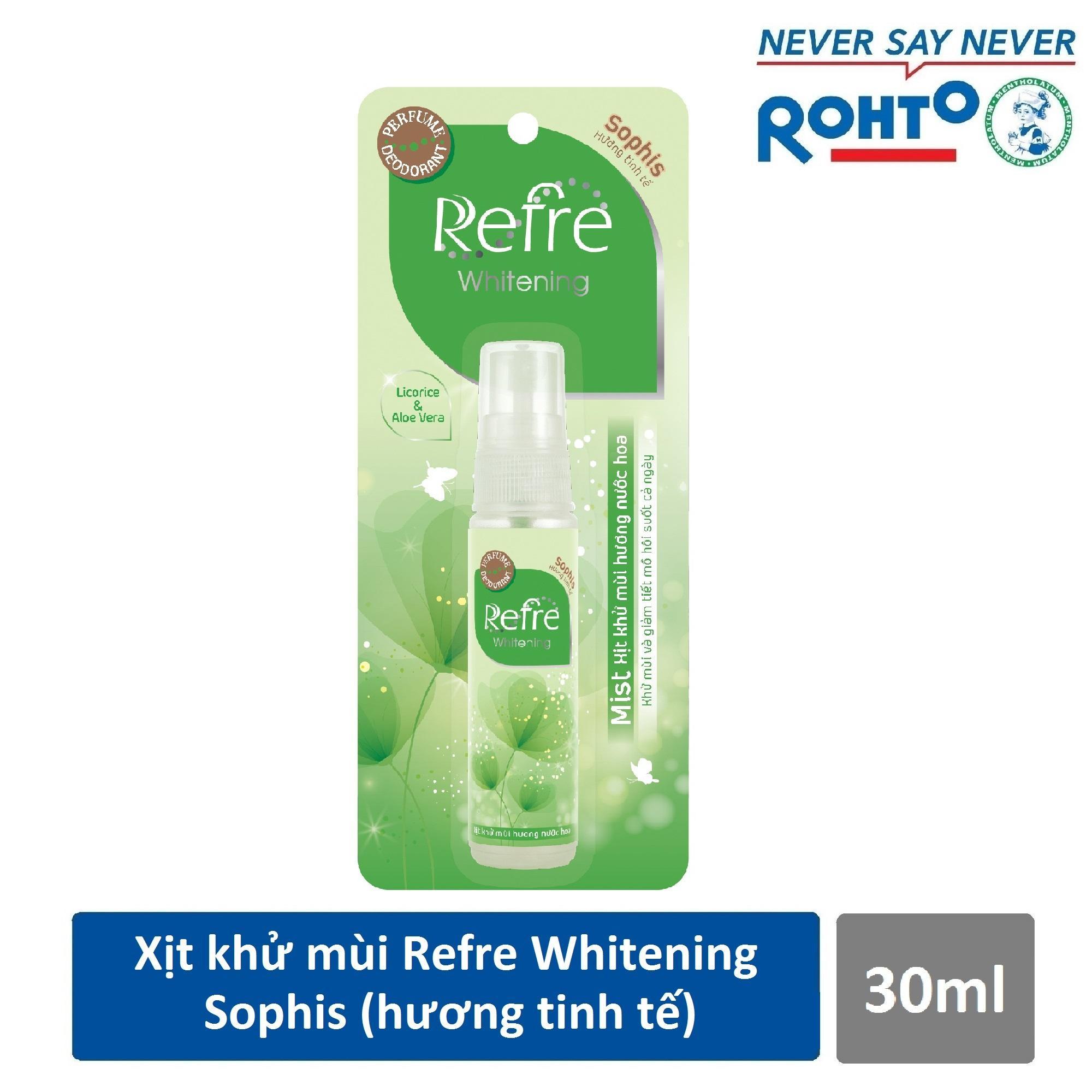Xịt Khử Mùi Dưỡng Trắng Hương Nước Hoa Refre Whitening Sophis Hương Tinh Tế (30ml) nhập khẩu