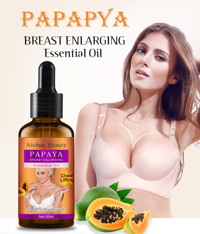 Papaya tăng cường vú kem 30ml Enlargement lớn hơn boobs Firming Postpartummint tinh khiết tự nhiên tinh dầu
