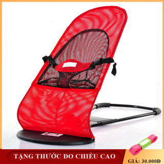 Ghế rung- Ghế nhún - Ghế nằm khung thép cao cấp an toàn cho bé- TẶNG THƯỚC ĐO CHIỀU CAO thumbnail