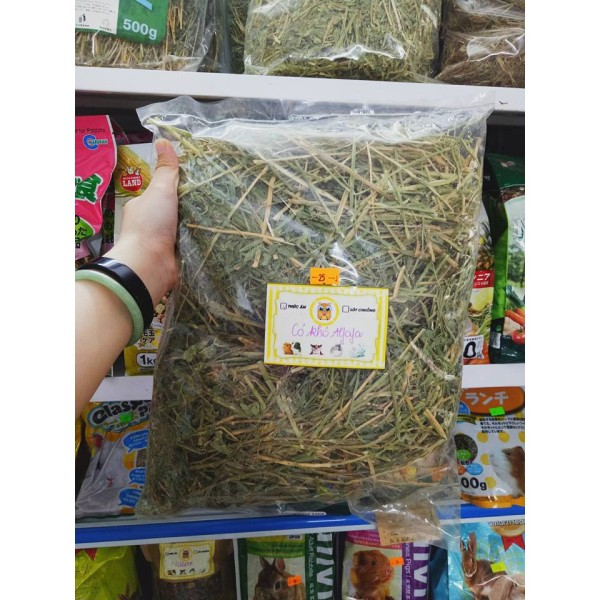 Cỏ khô afafa 500gr dành cho thỏ bọ sóc baby - cành lá 500gr