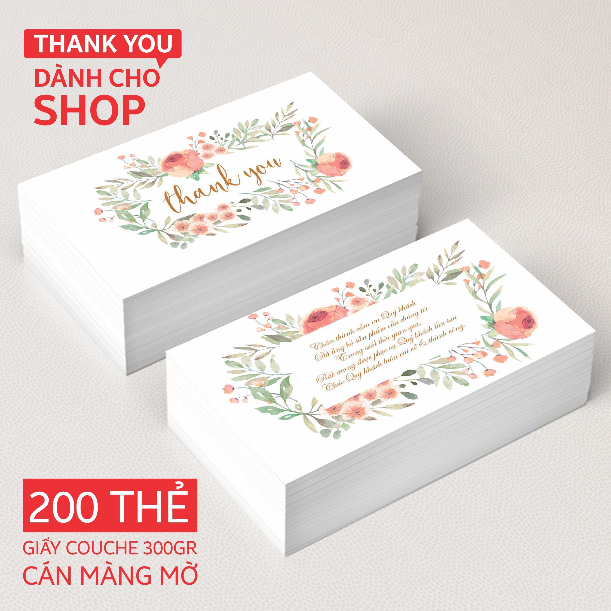 Mua Thank You Card - Thẻ cảm ơn  dành cho shop (200 THẺ)