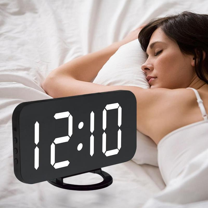Bảng giá Large Display Alarm Clock, Digital Clock Large 6.5 inch Easy-Read LED Display, Diming Mode, Easy Snooze Function, Mirror Surface, Dual USB Charger Ports Phong Vũ