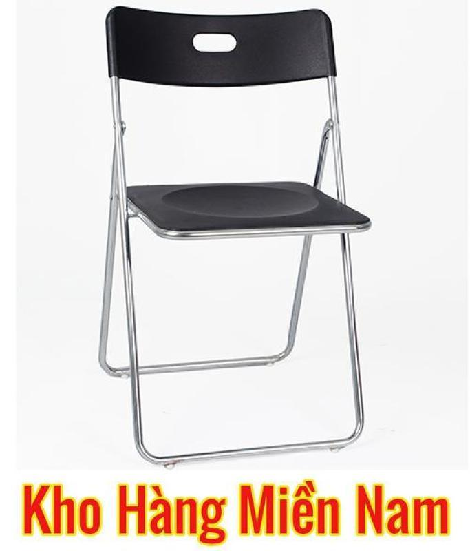 Ghế gấp INOX - Ghế xếp văn phòng INOX - Ghế ăn cao cấp giá rẻ Xuân Hòa GI 22-00 ĐEN giá rẻ