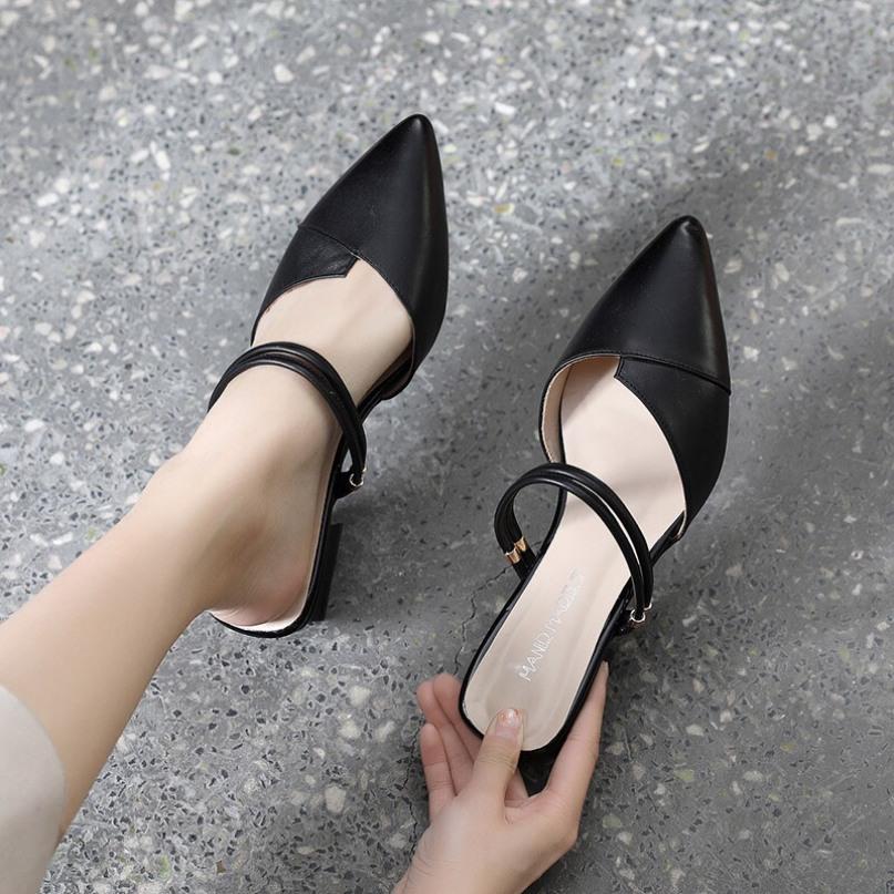 Sandal nữ 3p da mềm siêu đẹp ( mã sản phẩm : sandal 2 quai) giá rẻ