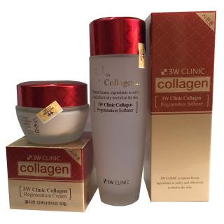 Combo Nước Hoa Hồng 3W Clinic Collagen Regeneration Softener 150 ml(đỏ) và Kem Dưỡng Trắng Sáng Tái Tạo Da 3W Clinic Collagen Regeneration Cream( 60ml) đỏ, Sâm Yến 3A thumbnail