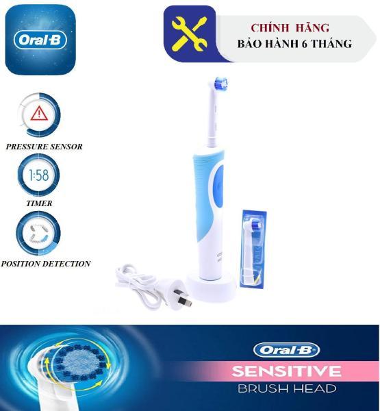 Bảng giá Bàn Chải Đánh Răng Điện Oral-B Vitality Sensitive Clean (1 Đế sạc, Thân bàn chải, 2 Đầu thay thế Sensitive Clean) - Bảo Hành 6 Tháng Điện máy Pico
