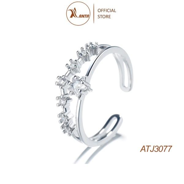 Nhẫn Bạc 925 Hình Ngôi Sao Đính Đá phong cách Hàn Quốc ANTA Jewelry - ATJ3077