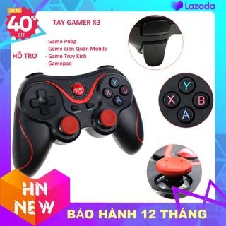 Tay cầm gamer hỗ trợ chơi game bluetooth X3 - Tay cầm chơi gane pubg lien quân ff cho tivi box giá rẻ - Tay cầm gamepad X3 - Tay game psp xbox thumbnail