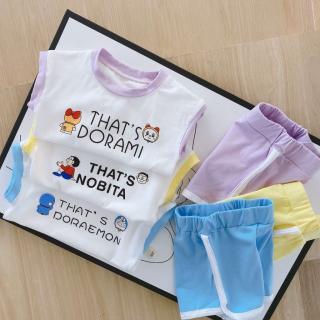 Áo Ba lỗ cho bé Bộ ba lỗ nobita,doraemon chất cotton thoáng mát cho bé 7-19kg