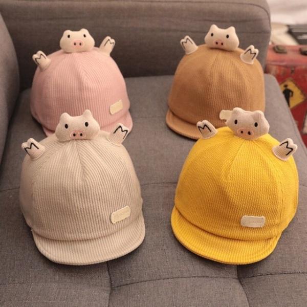 Mũ nón lưỡi trai CHÚ LỢN cho bé trai và gái 3m -2 tuổi