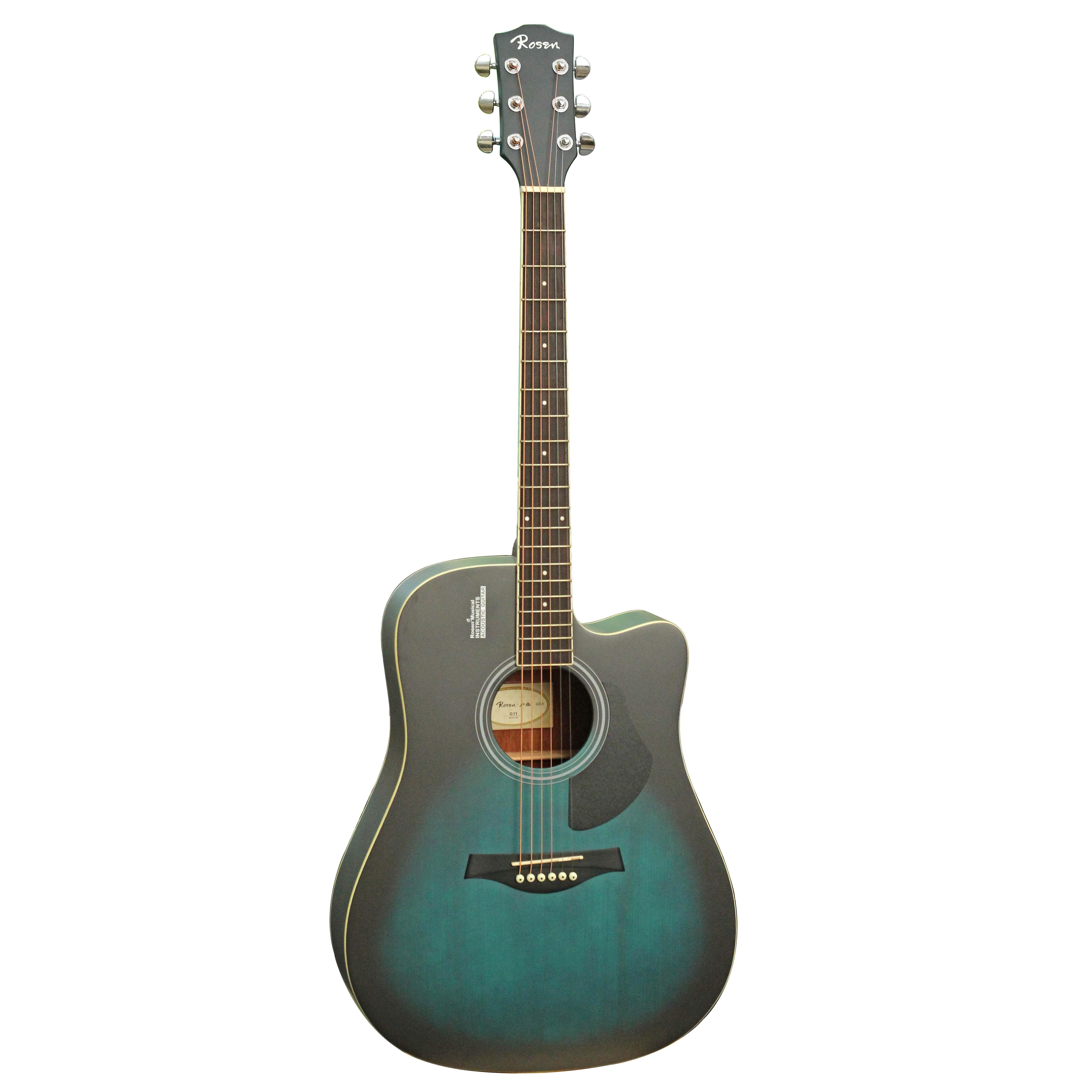 Đàn Guitar Acoustic Rosen Xanh Ngọc G11 (Gỗ Thịt- Solid top)