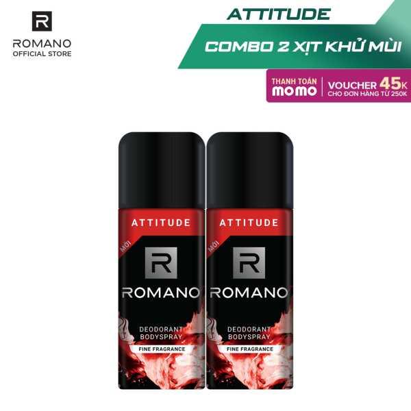 Combo 2 Xịt toàn thân Romano Attitude nồng ấm cá tính 150ml giá rẻ