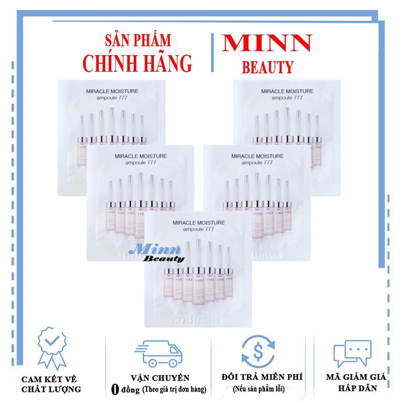 Combo 5 Sample Tinh Chất Dưỡng Ẩm Ohui Miracle Moisture Ampoule 777 1ml x 5 nhập khẩu