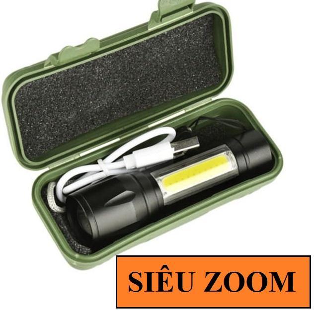 Giá Tiết Kiệm Khi Sở Hữu Có Video - Đèn Pin Mini Bóng Q5 Siêu Sáng Có đèn Trên Thân + Zoom