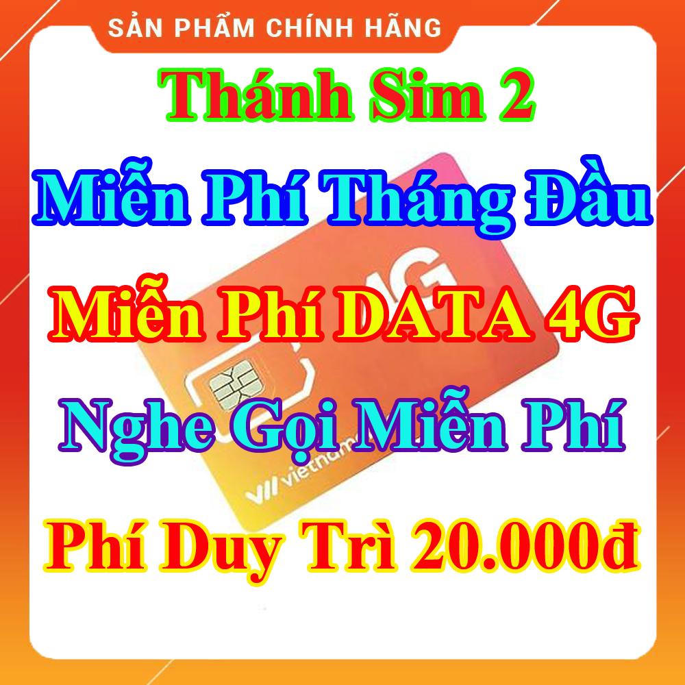 [HCM]Thánh Sim 2 - Miễn Phí DATA 4G - Miễn Phí Tháng Đầu - Nghe Gọi Miễn Phí Nội Mạng - Phí Duy Trì 20.000đ - Shop Lotus Sim Giá Rẻ