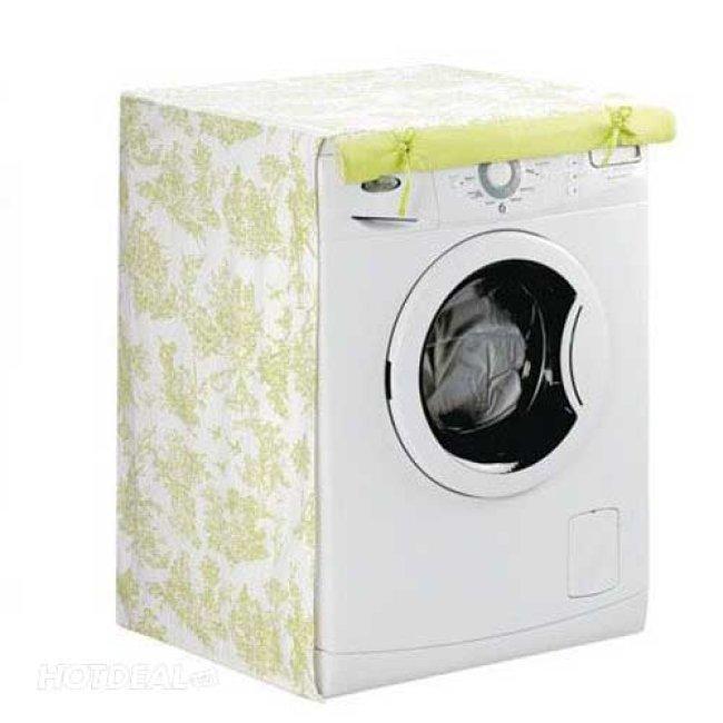 Áo trùm máy giặt cửa trước có khóa kéo