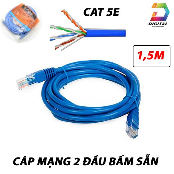 Giá Cáp mạng 2 đầu bấm sẵn tốc độ CAT 5E LXF dài 1,5m