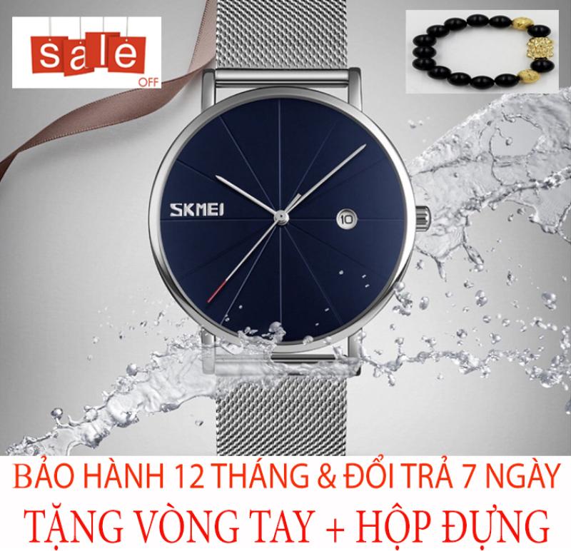 Đồng hồ nam SKMEI M9 [TẶNG VÒNG TAY] [Liên quan: cao cấp - đeo tay nam - đồng hồ đẹp - đồng hồ đôi - dong ho thuy sy giá rẻ đồng hồ cơ - đồng hồ thông minh - thể thao - dây thép - quai thép - quai da - dây lưới]