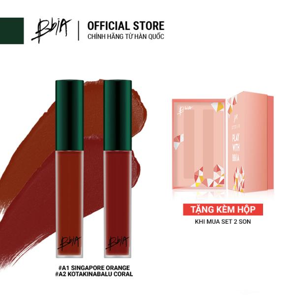 [Combo] Set x2 Son kem lì Bbia Last Velvet Lip Tint ASIA EDITION 5g