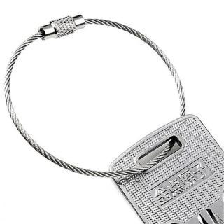 Vòng dây thép móc chìa khoá (bạc) thumbnail