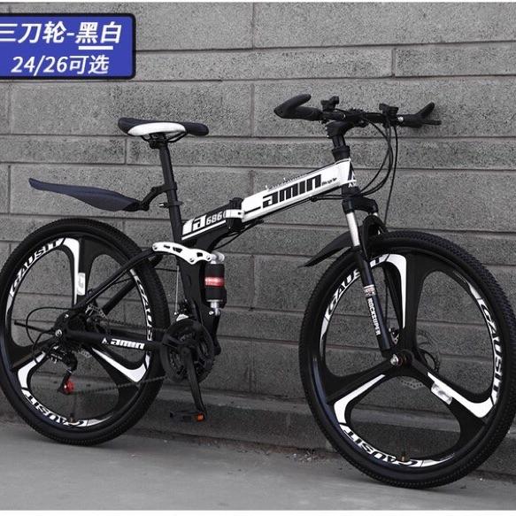 Mua Xe đạp gấp thể thao 26 icnh ( khung thép cacbon cao cấp)