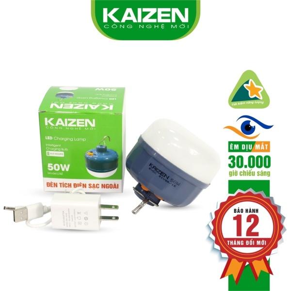 Bảng giá Bóng đèn tích điện sạc ngoài Kaizen 100-80-50W dùng 6-8h có móc treo tiện lợi, đèn sạc tích điện
