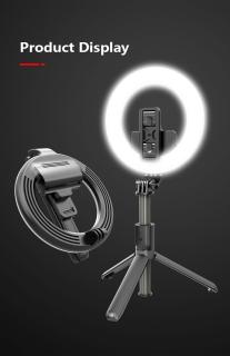 Gậy tự sướng Chính Hãng. Gậy Selfie L07 5 Inch Kết Nối Bluetooth Có Đèn Led Hỗ Trợ Chụp Ảnh Selfie.Gậy Tự Sướng Ba Chân Với Vòng Đèn LED Gậy Selfie - Giá Đỡ Điện Thoại Livestream - Tripod Chụp Ảnh Bluetooth Chụp Từ Xa, . thumbnail