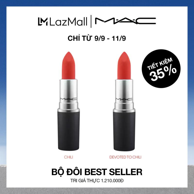 [Ưu Đãi Độc Quyền – 9/9 – 11/9] MAC Bộ 2 Son Best Seller 2x3g (Trị Giá Gốc 1.210.000đ) • Duo Best Seller Lipstick Set